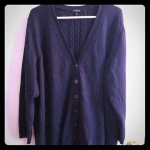 Dark Blue Button Up Cardigan